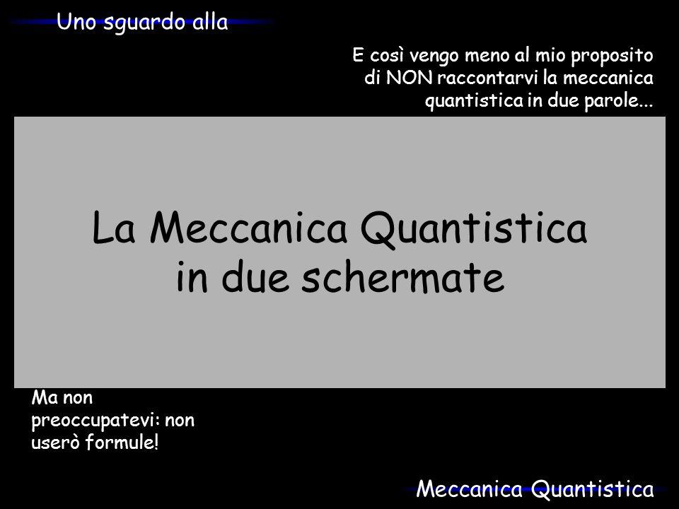 La Meccanica Quantistica in due schermate