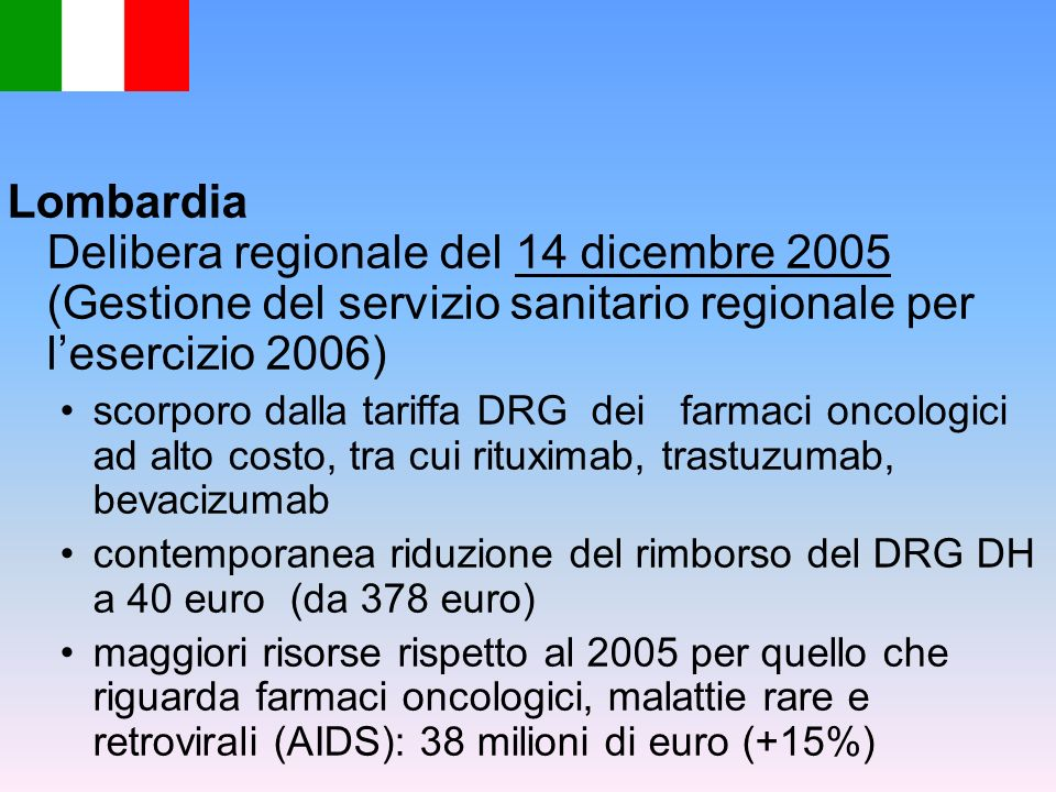 Lombardia Delibera regionale del 14 dicembre 2005 (Gestione del servizio sanitario regionale per l'esercizio 2006)