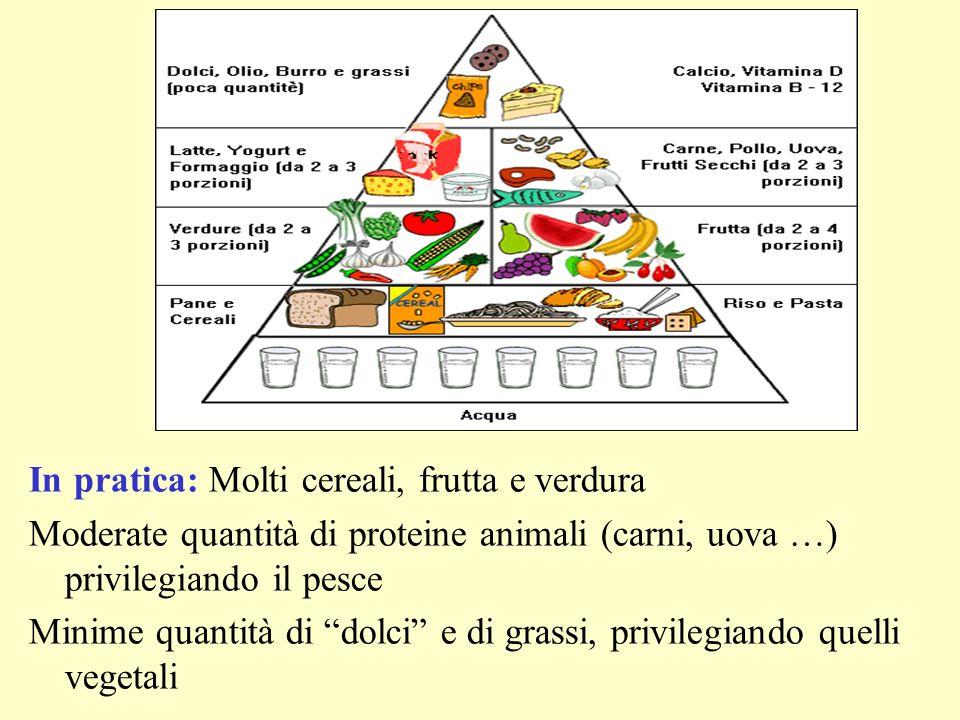 In pratica: Molti cereali, frutta e verdura