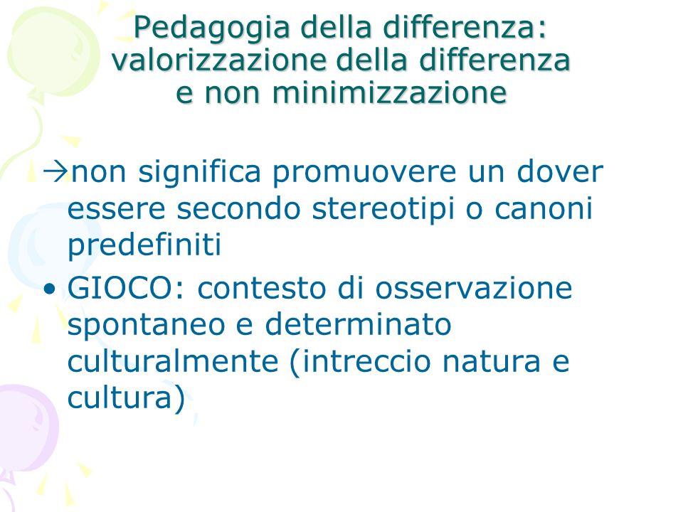 Pedagogia della differenza: valorizzazione della differenza e non minimizzazione
