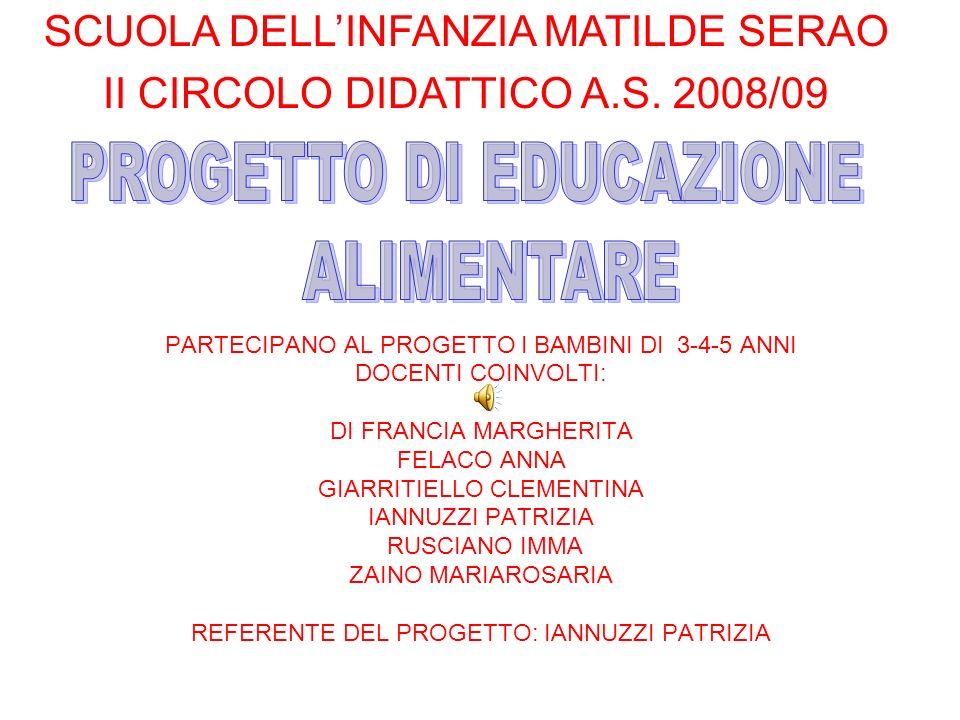 Favoloso PROGETTO DI EDUCAZIONE ALIMENTARE - ppt scaricare NW47