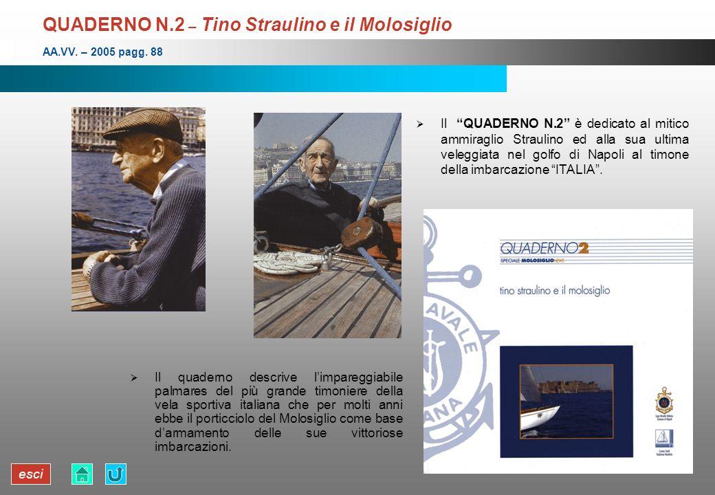 QUADERNO N.2 – Tino Straulino e il Molosiglio