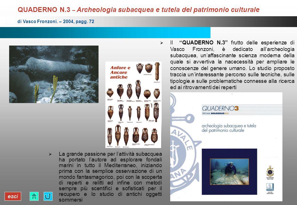 QUADERNO N.3 – Archeologia subacquea e tutela del patrimonio culturale