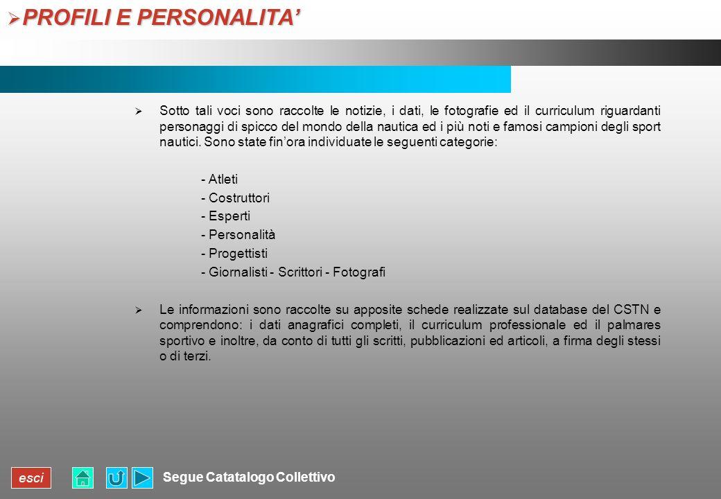 PROFILI E PERSONALITA'