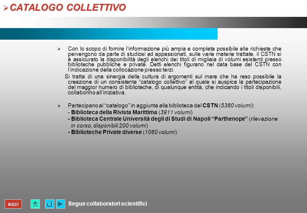 CATALOGO COLLETTIVO