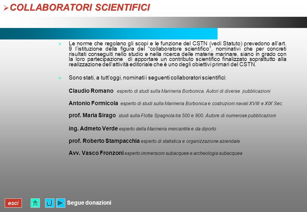 COLLABORATORI SCIENTIFICI