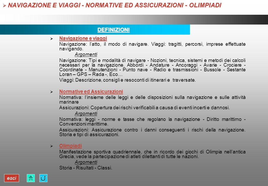 NAVIGAZIONE E VIAGGI - NORMATIVE ED ASSICURAZIONI - OLIMPIADI