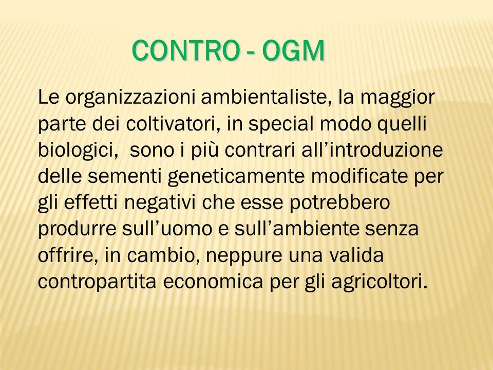 CONTRO - OGM