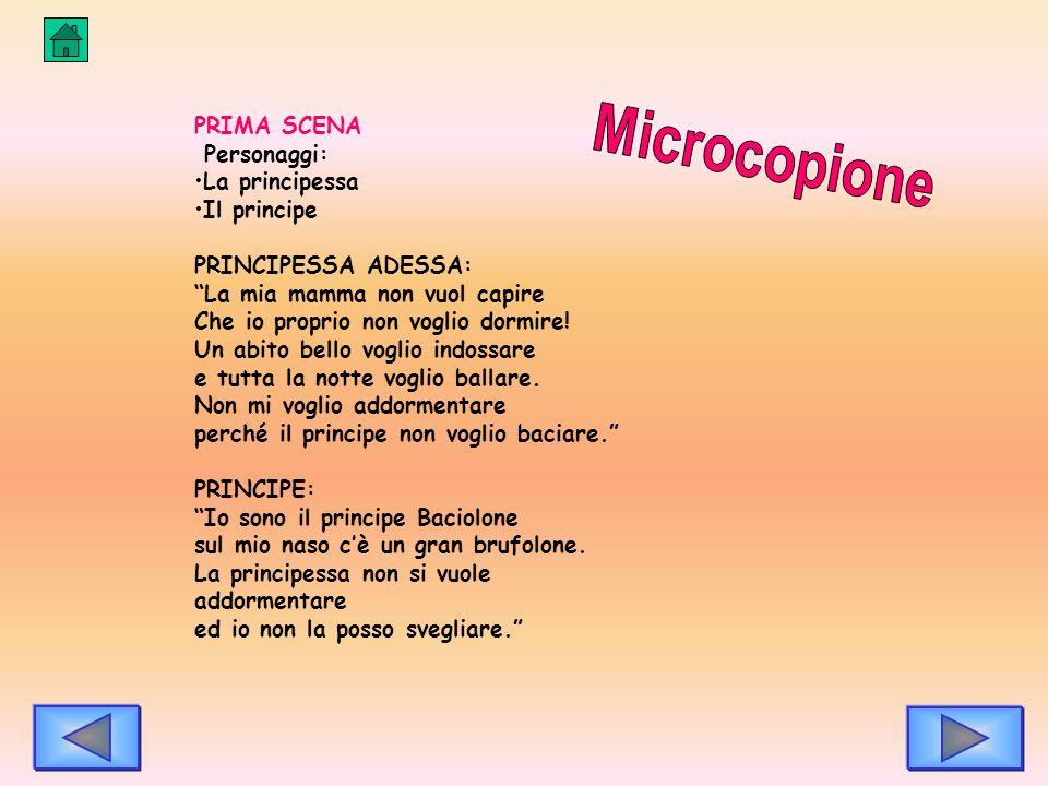 Microcopione PRIMA SCENA Personaggi: La principessa Il principe