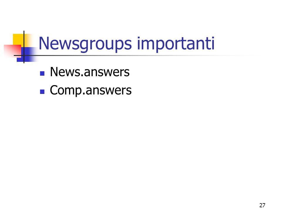 Newsgroups importanti