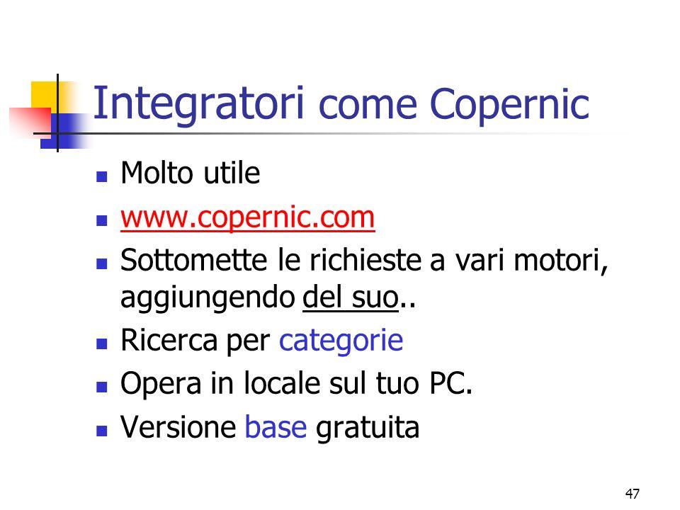 Integratori come Copernic