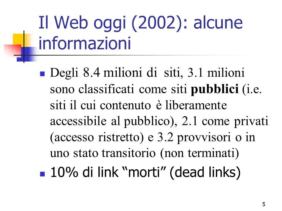 Il Web oggi (2002): alcune informazioni