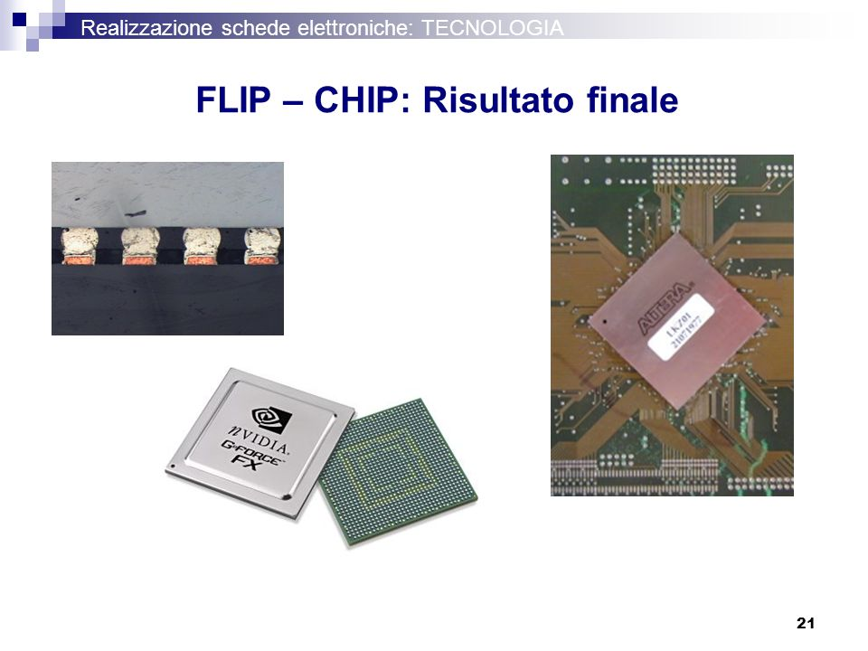 FLIP – CHIP: Risultato finale