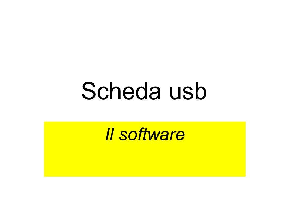 Scheda usb Il software