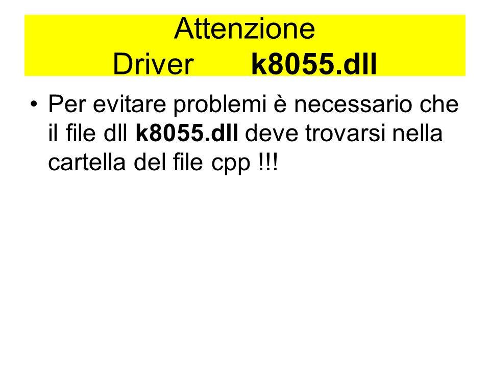 Attenzione Driver k8055.dll