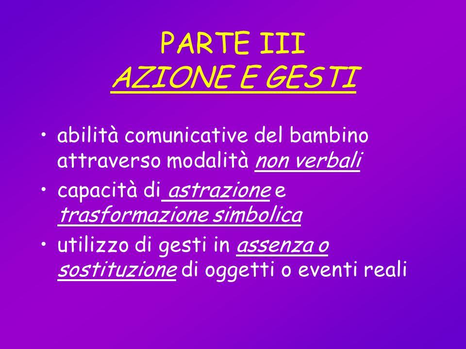 PARTE III AZIONE E GESTI