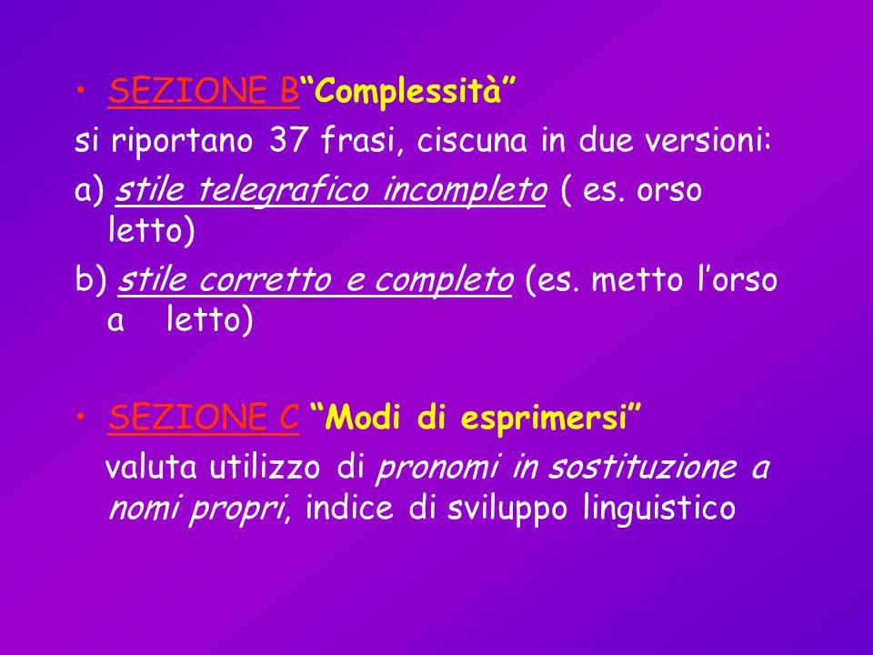 SEZIONE B Complessità