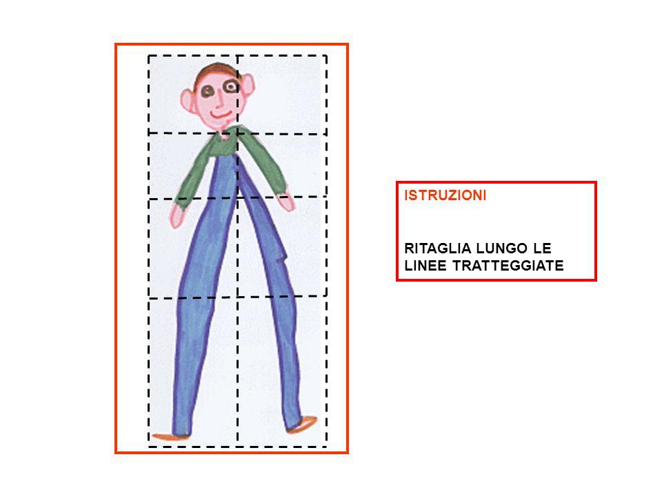 ISTRUZIONI RITAGLIA LUNGO LE LINEE TRATTEGGIATE