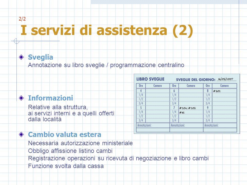 2/2 I servizi di assistenza (2)