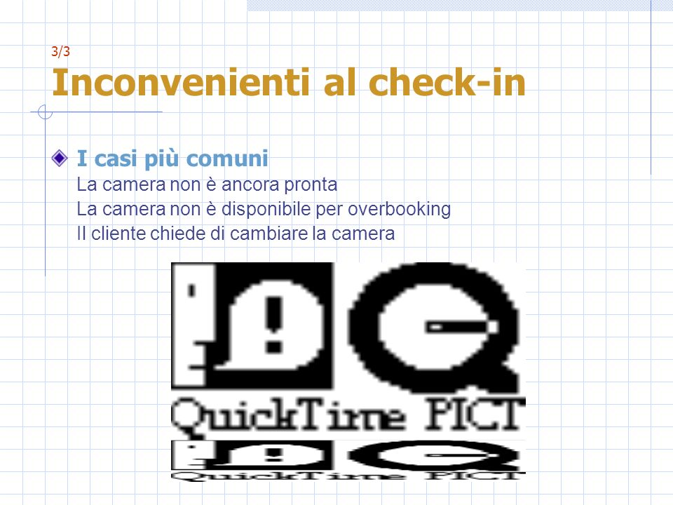 3/3 Inconvenienti al check-in