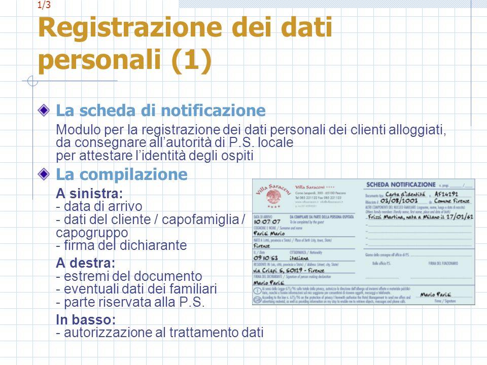 1/3 Registrazione dei dati personali (1)