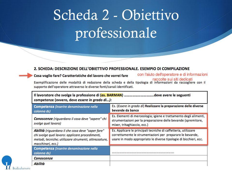 Scheda 2 - Obiettivo professionale