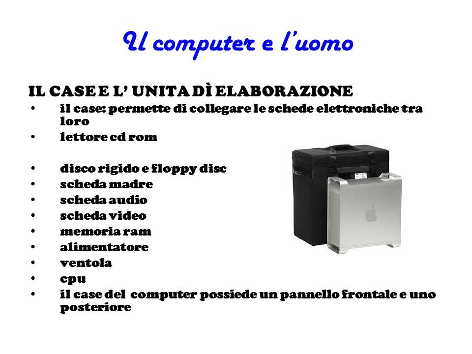 Il computer e l'uomo IL CASE E L' UNITA DÌ ELABORAZIONE