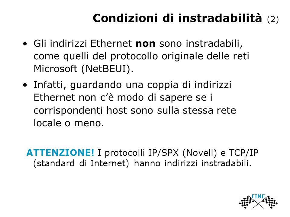 Condizioni di instradabilità (2)