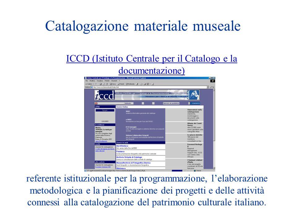 ICCD (Istituto Centrale per il Catalogo e la documentazione)