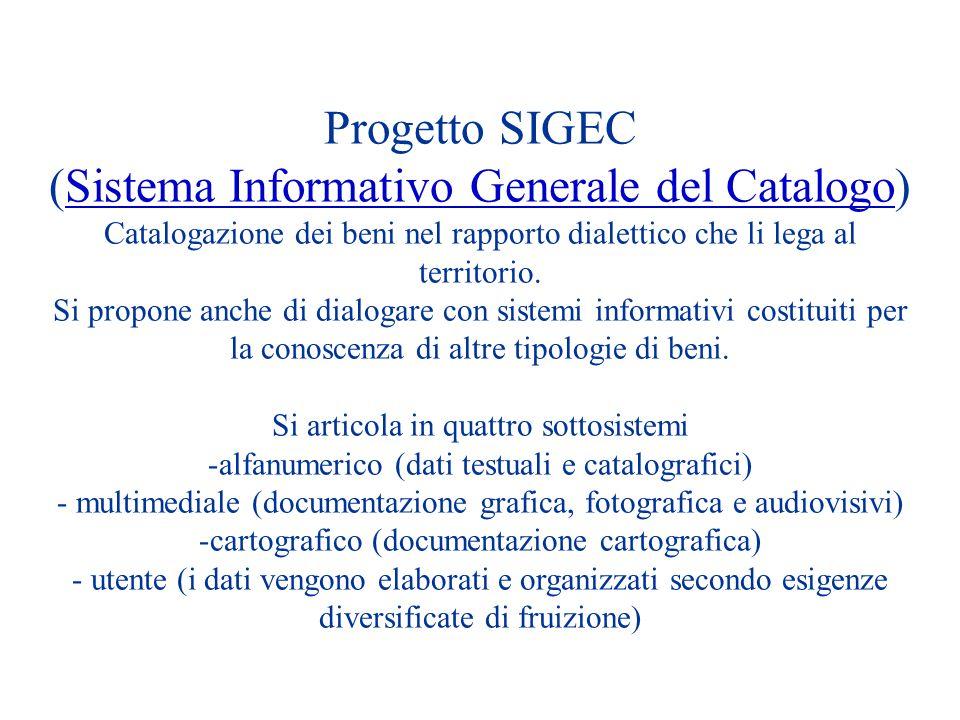 (Sistema Informativo Generale del Catalogo)