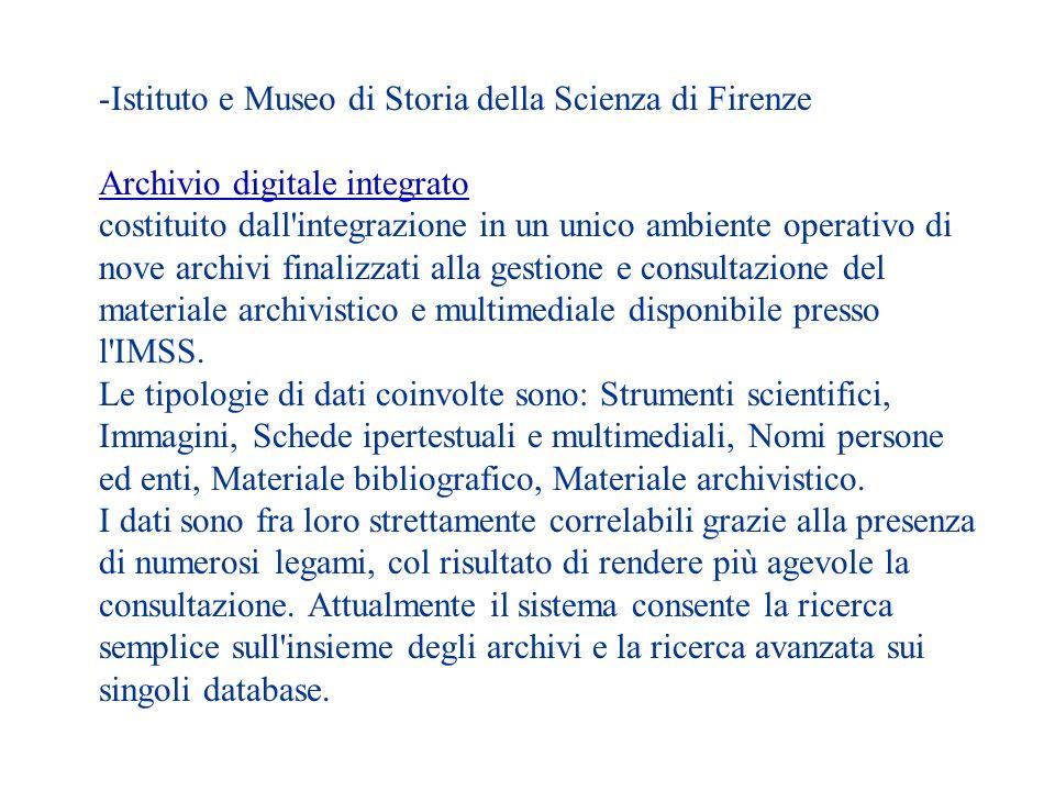 Istituto e Museo di Storia della Scienza di Firenze