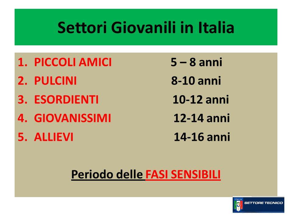 Settori Giovanili in Italia