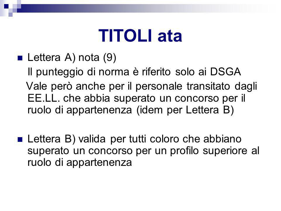 TITOLI ata Lettera A) nota (9)