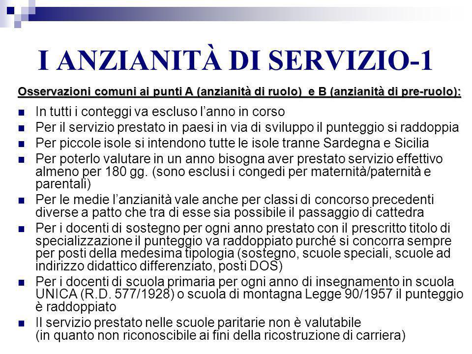I ANZIANITÀ DI SERVIZIO-1
