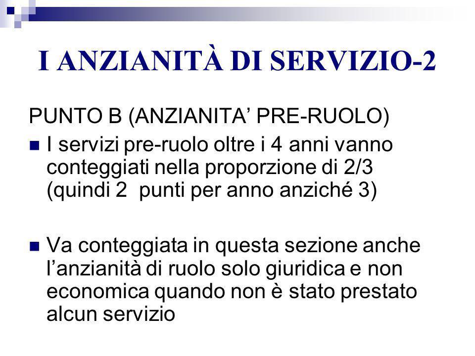 I ANZIANITÀ DI SERVIZIO-2