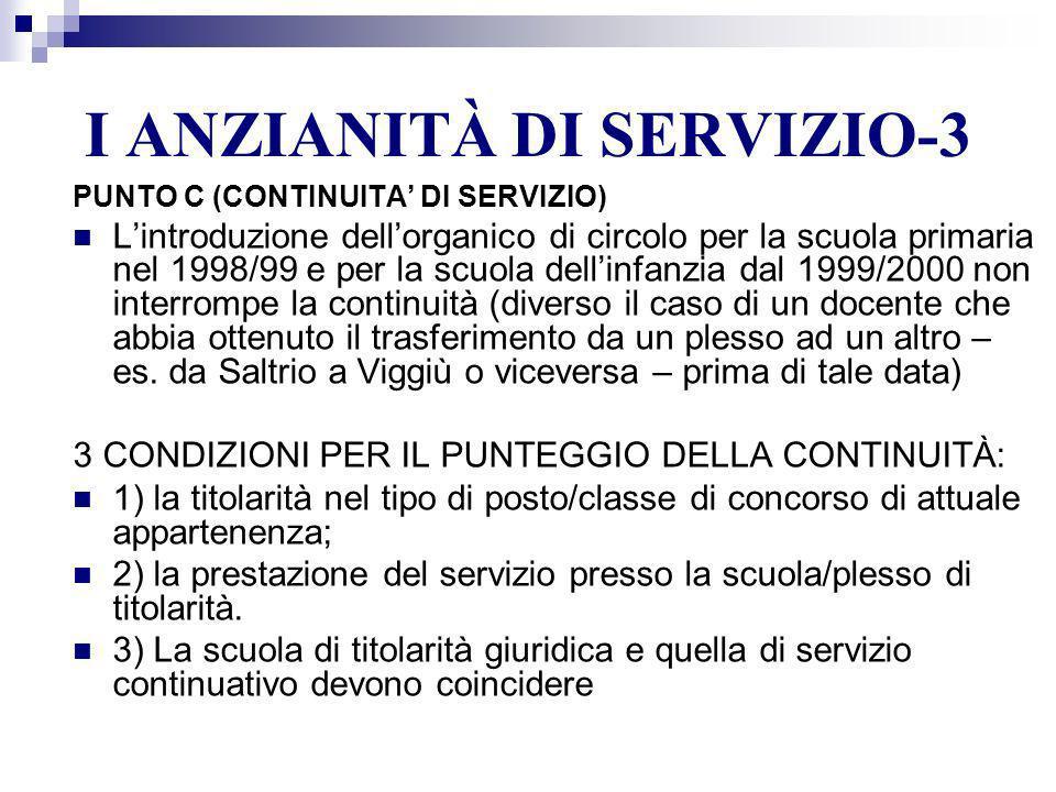 I ANZIANITÀ DI SERVIZIO-3