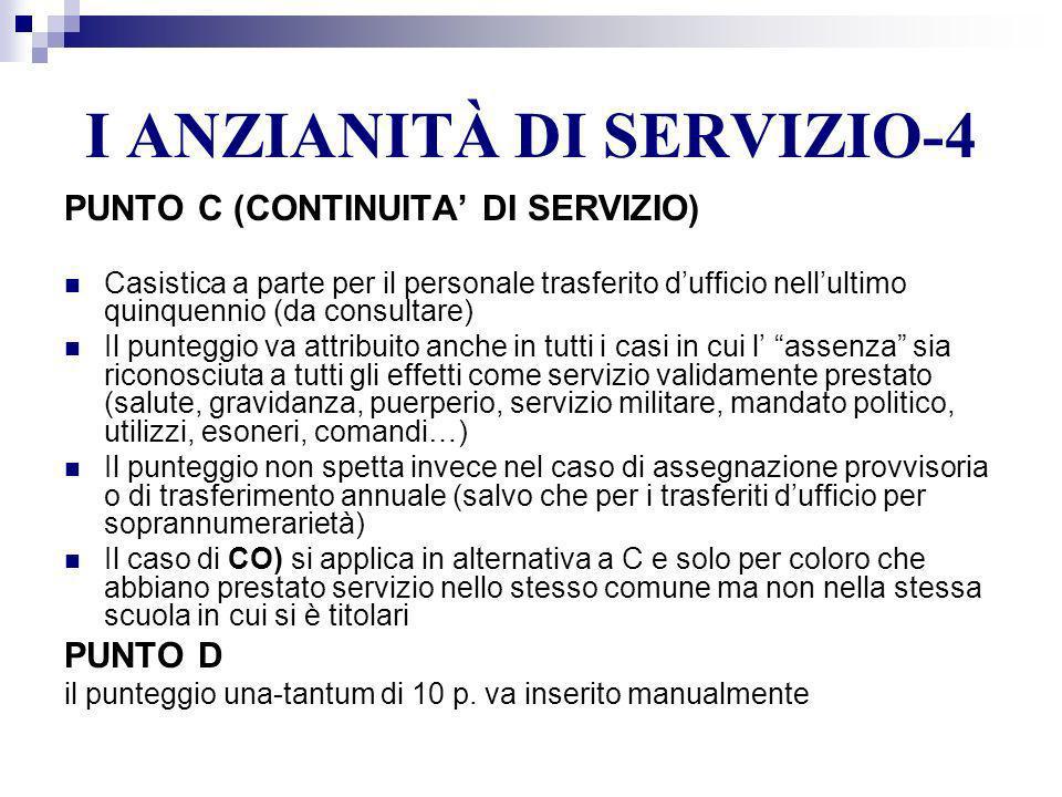 I ANZIANITÀ DI SERVIZIO-4