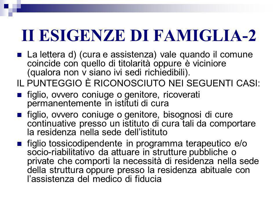 II ESIGENZE DI FAMIGLIA-2