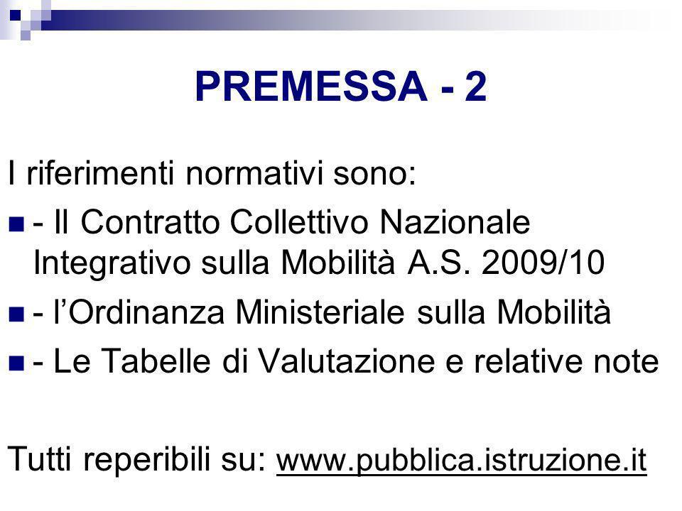 PREMESSA - 2 I riferimenti normativi sono: