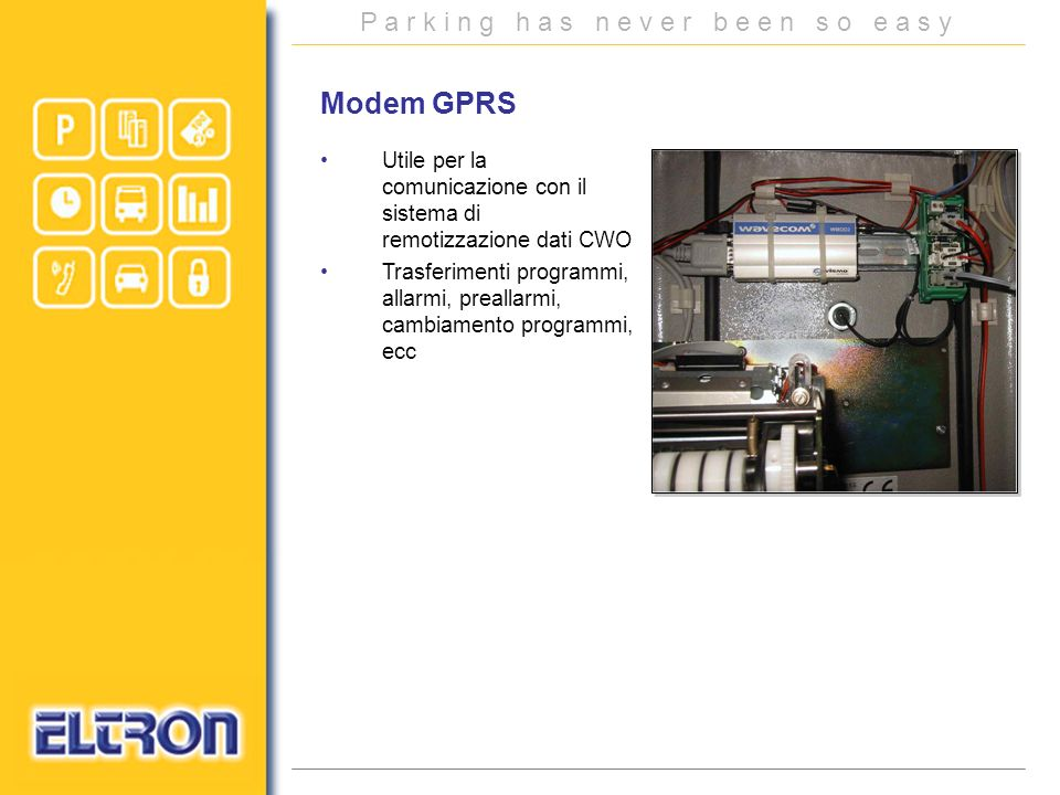 Modem GPRS Utile per la comunicazione con il sistema di remotizzazione dati CWO.