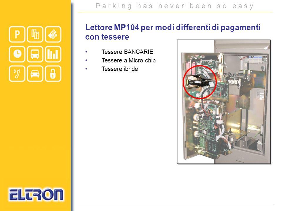 Lettore MP104 per modi differenti di pagamenti con tessere