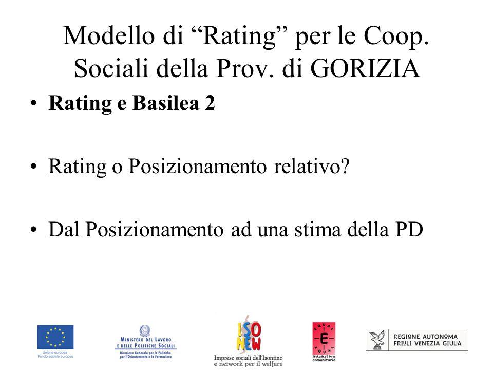 Modello di Rating per le Coop. Sociali della Prov. di GORIZIA