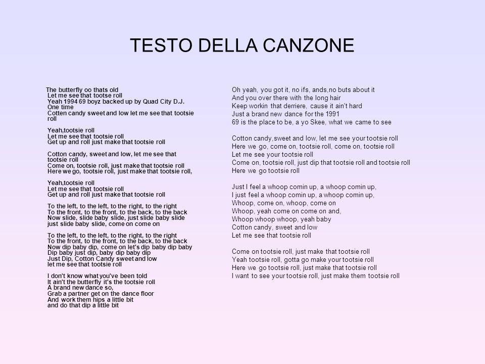 TESTO DELLA CANZONE