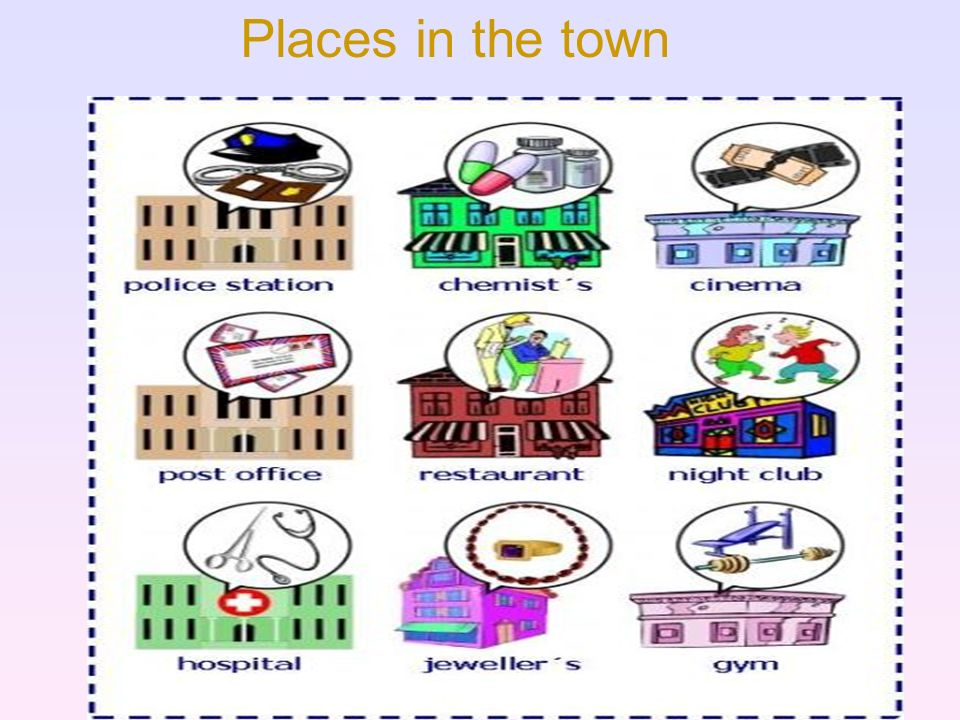 Places in the town