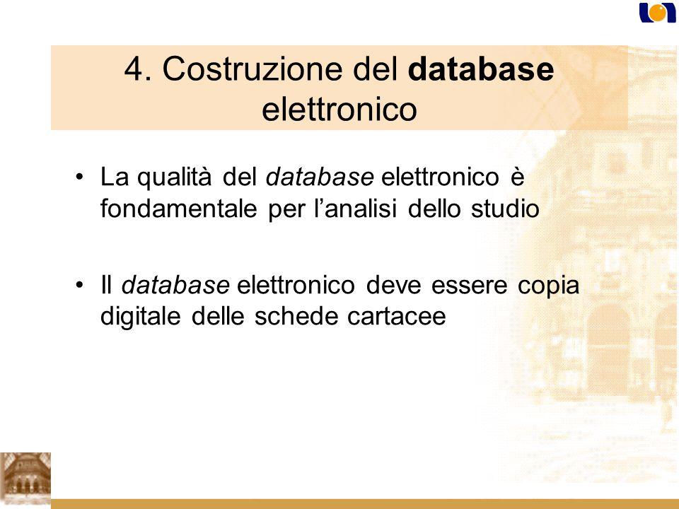4. Costruzione del database elettronico