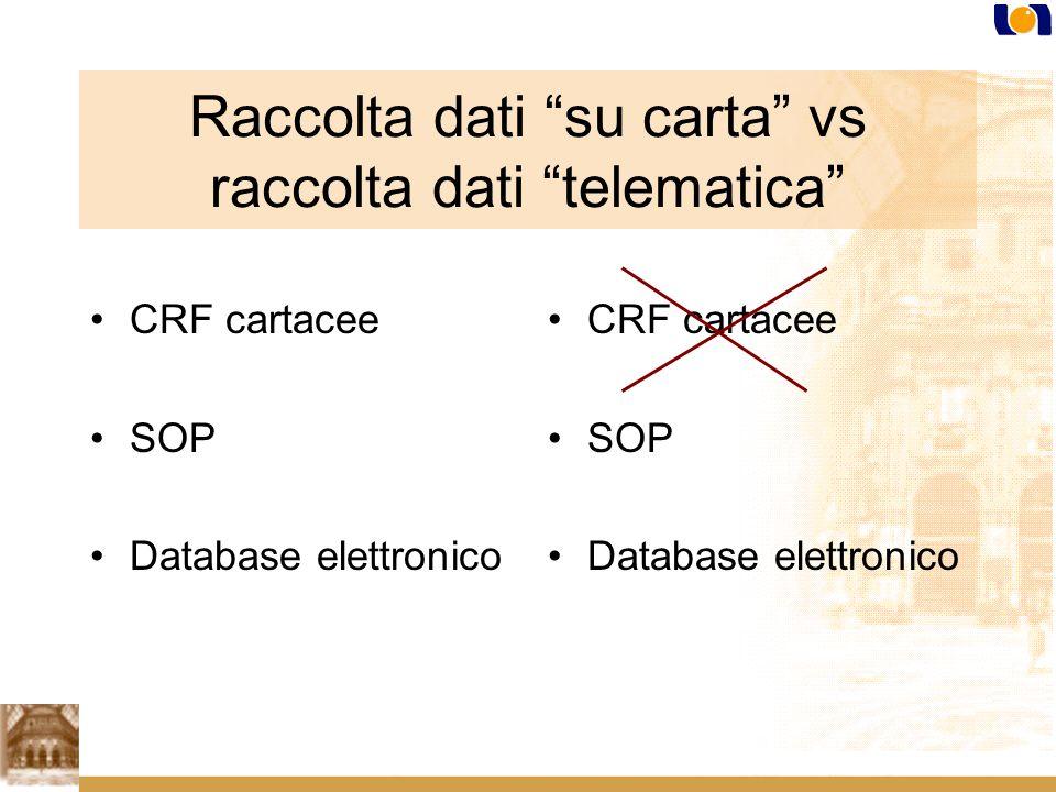 Raccolta dati su carta vs raccolta dati telematica