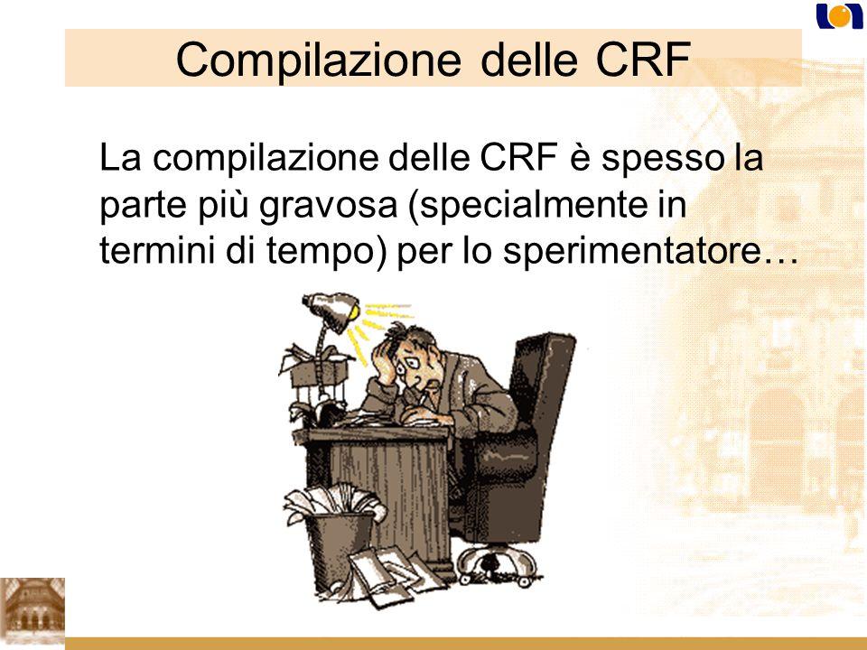 Compilazione delle CRF