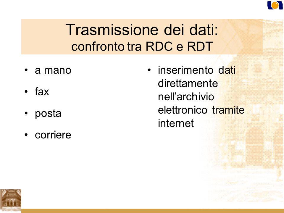 Trasmissione dei dati: confronto tra RDC e RDT