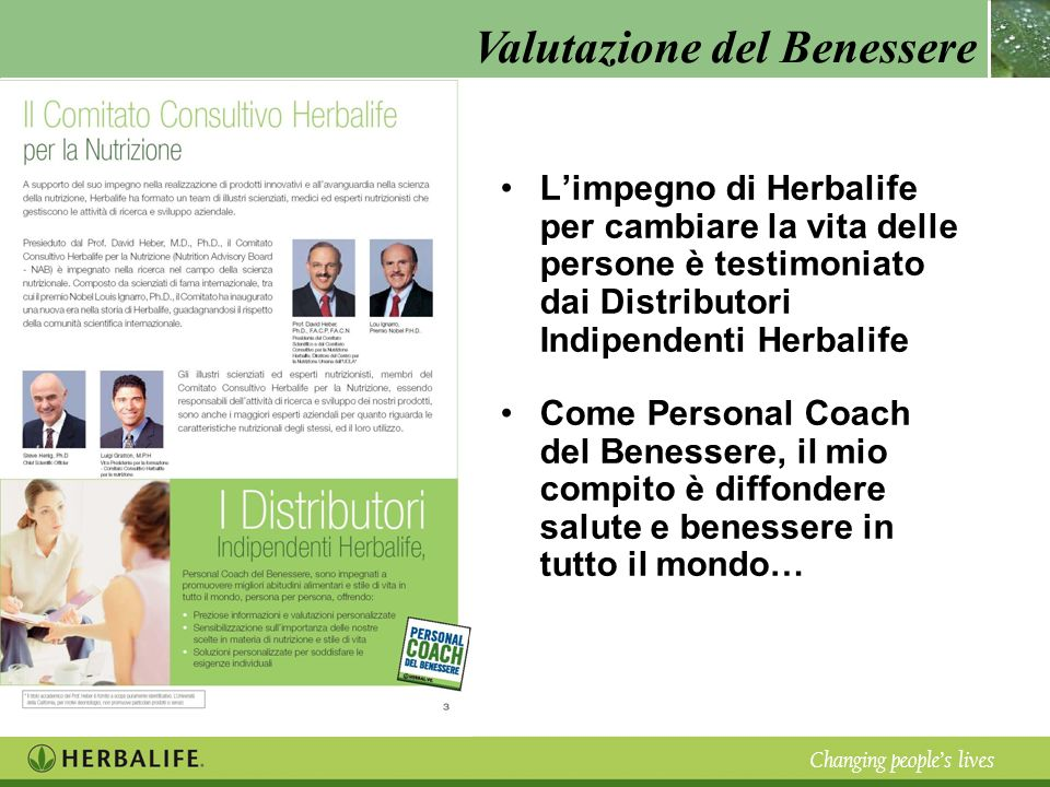 L'impegno di Herbalife per cambiare la vita delle persone è testimoniato dai Distributori Indipendenti Herbalife