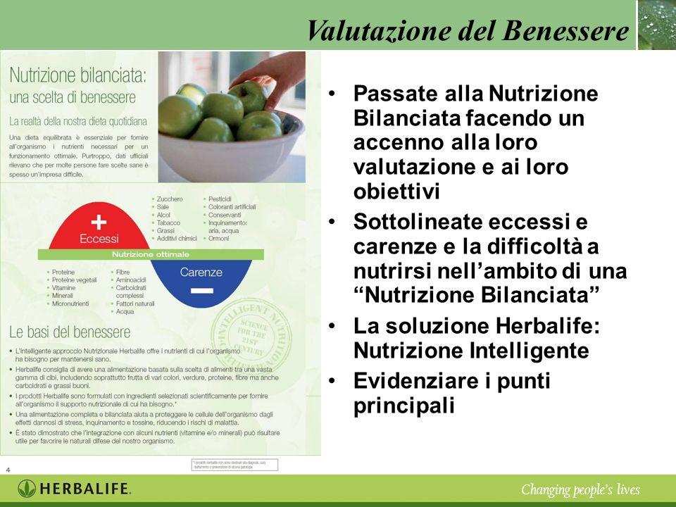 Passate alla Nutrizione Bilanciata facendo un accenno alla loro valutazione e ai loro obiettivi